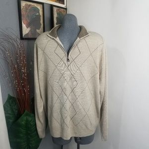 Dockers Sweater Zip Up Size XL